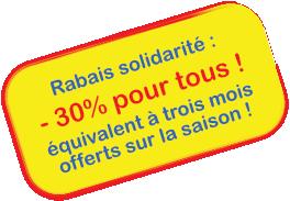 Rabais solidarité -30%